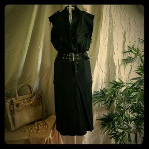 Jean Paul Gaultier FEMME sleeveless black dress
